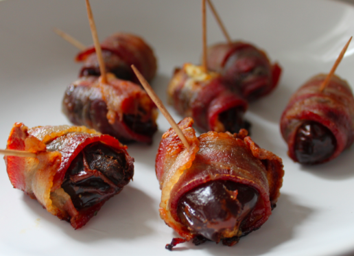Post image for Bacon Wrapped Dates – Goat Cheese and Pistachios