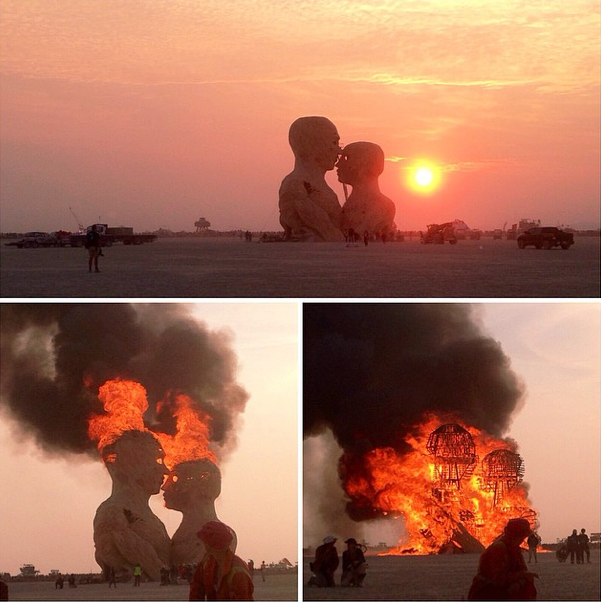 burning man - embrace