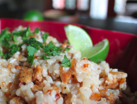 Post image for Coconut Lime Rice & Tempeh