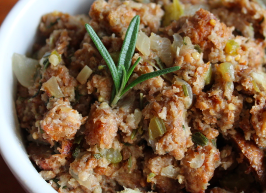 ... silver palate bread is the most common base sausage and bread stuffing