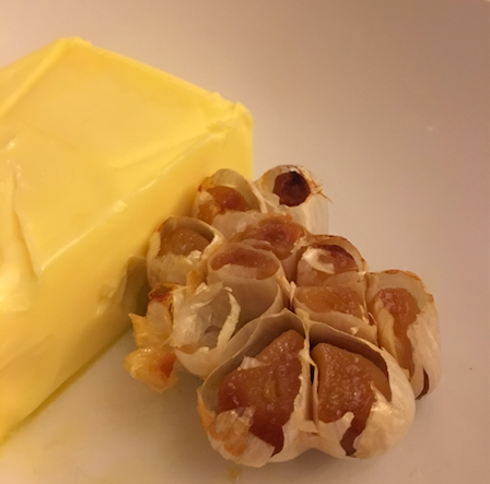 garlic cloves and butter