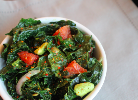 Post image for Grapefruit Kale Salad