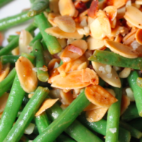 Green Beans + Toasted Almonds