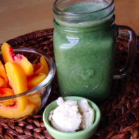 Peaches And Cream Green Smoothie
