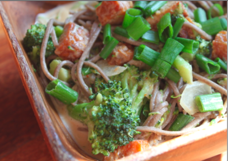 Post image for Soba Noodles, Veggies & Spicy Peanut Sauce