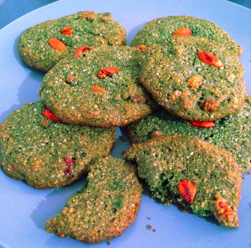 Post image for Spirulina Power Cookies (Holiday Recipe)