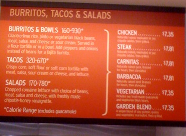 image relating to Printable Chipotle Menu called chipotle menu - Nutritious Crush